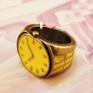 Vintage Lovely Watch Shape Antique Rings