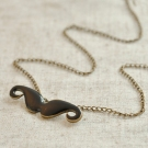 Vintage Fun Fashion Black Beard Shape Lovely Chain Necklace