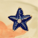 Chic Blue Starfish Ladies' Personalized Stud Earrings