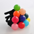 Fashion Candy Color Ball Shape Ponytail Holder