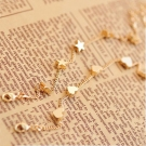 Vintage Simple Heart Star Shape Link Bracelet