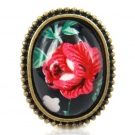 Vintage Rose Flower Rings For Ladies