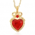 Fashion Red Heart Chain Necklace For Ladies