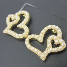Fashion Golden Heart Stud Earrings
