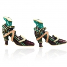 Vintage High-heeled Shoes Shape Stud Earrings