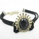 Lovely Jewelry Ladies' Crystal Leather Bracelets