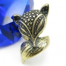 Vintage Cute Fox Animal Ring
