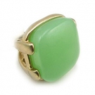 Large Green Naural Stone Cocktail Ring