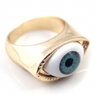 Personalized Blue Eye Band Ring