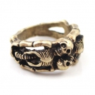 Personalized Skull Antique Band Ring