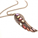 Vintage Multi-color Wing Pendant Chain Necklaces