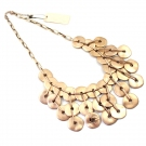 Personalized Golden Circles Bib Necklace