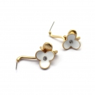 Elegant White Flower Dangle Earrings