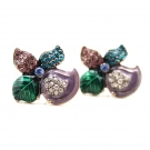 Fashion Multi-color Clover Stud Earrings