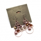 Fashion Purple Pearl Circles Dangle Earrings