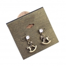 Vintage Wooden Horse Rhinestone Stud Earrings