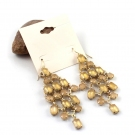 Golden Fashion Tassels&Elegant Gold Plated Alloy Drop Earring