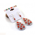 Fashionable Elegant Red Heart Hollow-out Drop Earring