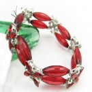 Fashion Red Link Bracelets With Rhinestone
