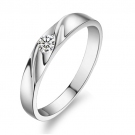 Fashion Simple Silver Rhinestone Band Ring
