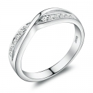 Simple Exquisite Silver Rhinestone Ring