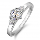 Fashion Exquisite Luxury Silver Rhinestone Ring