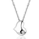 Fashion Exquisite Silver Rhinestone Heart Shape Pendant Necklace