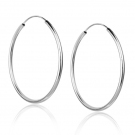 Fashion Simple 925 Sterling Silver Hoop Earring