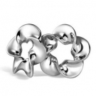 Elegant Flower Shape 925 Sterling Silver Stud Earring