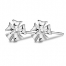 Fashion Flower Shape 925 Sterling Silver Stud Earring