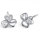 Fashion Clover Shape 925 Sterling Silver Stud Earring