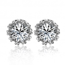 Exquisite Luxury 925 Sterling Silver Embedded CZ Stud Earring