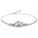 Personalized Lovely Silver Fish Link Bracelet