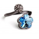 Fashion Flower Shape Austrian Crystal Ring