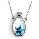 Lovely Lucky Bottle Austrian Crystal Pendant Necklace