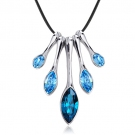 Fashionable 18K GP Crystal Pendant Necklace For Ladies