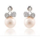 Elegant Pearl Austrian Crystal Stud Earring For Ladies
