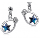Korea Style Fashionable Star Crystal Drop Earring