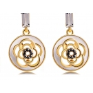Fashionable Cute Flower Shape Zircon Drop Earring