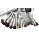 21 Pcs Silver Handle Makeup Brush Set