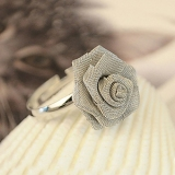 Chic Korean Fashion Gauze Rose Flower Ring