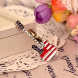 Trendy fashion Pink Red Black Purple Rhinestone Double Cocktail Rings