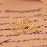High Fashion Unique Bling Peace Double Finger Ring