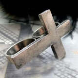 Antique Unique Personalized double finger cross Ring