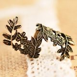 Vintage Leaf Flower Exquisite Flower Rings
