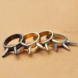 Vintage Punk Style Rivet Band Rings