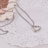 Simple Hollowed Heart Elegant Choker Pendant Necklace