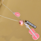 Chic Violin Shape Lovely Ladies' Long Pendant Chain Necklace