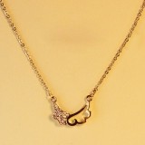 Fashion Angel Wing Sweet Ladies' Elegant Choker Pendant Necklace