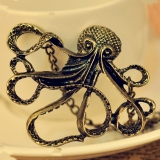 Octopus Shape Vintage Pendant Chain Necklace